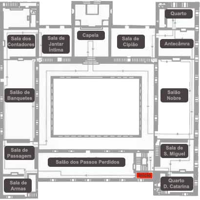 Mapa Paço dos Duques de Bragança