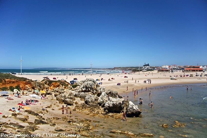 Baleal Beach Peniche - Portugal map baleal