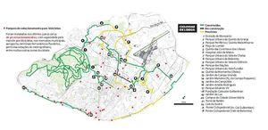 Mapa Ciclovias Lisboa