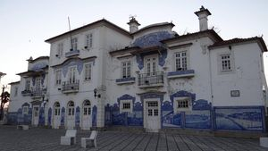 Aveiro Train Station Facade, Portugal