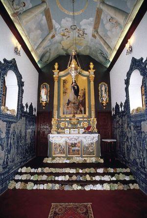 Interior da Igreja de Nossa Senhora do Monte, Madeira