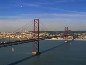 25 de Abril Bridg, Lisbon, Portugal