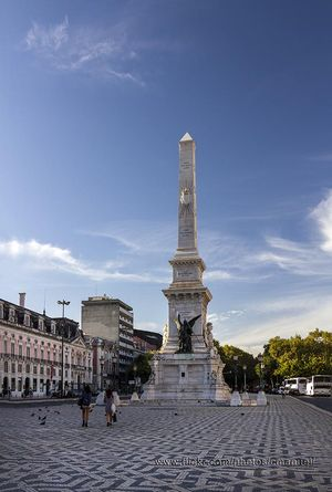 Restauradores Obelisk, Lisbon, Portugal