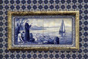 Azulejos  Capilla de Santo Antonio, Nazaré, Portugal