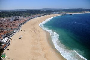 Playas en Nazaré, Portugal