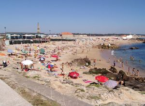 Playas en Vila do Conde, Portugal