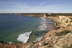 Praia do Zavial Beach, Vila do Bispo, Algarve