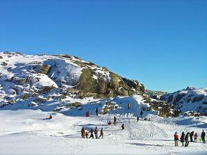 Skiing in Serra da Estrela