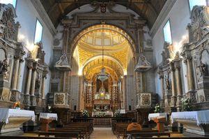 Interior Santuario Nazaré, Portugal