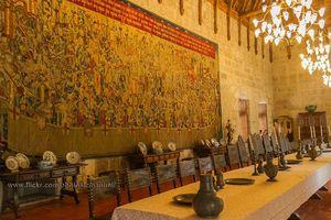 Interior Paços dos Duques de Bragança, Guimarães, Portugal